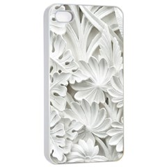 Pattern Motif Decor Apple Iphone 4/4s Seamless Case (white) by Simbadda