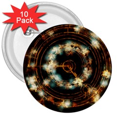 Science Fiction Energy Background 3  Buttons (10 Pack)  by Simbadda