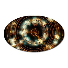 Science Fiction Energy Background Oval Magnet by Simbadda