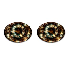 Science Fiction Energy Background Cufflinks (oval) by Simbadda
