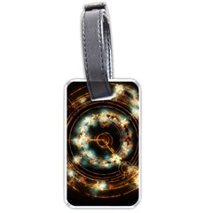 Science Fiction Energy Background Luggage Tags (one Side)  by Simbadda