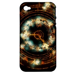 Science Fiction Energy Background Apple Iphone 4/4s Hardshell Case (pc+silicone) by Simbadda