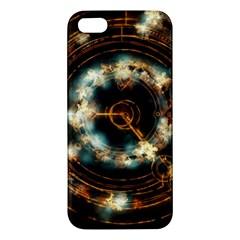 Science Fiction Energy Background Apple Iphone 5 Premium Hardshell Case by Simbadda