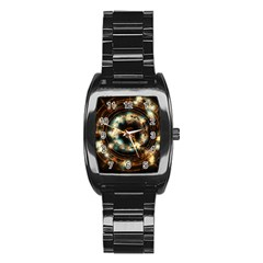 Science Fiction Energy Background Stainless Steel Barrel Watch by Simbadda