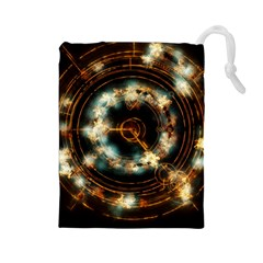 Science Fiction Energy Background Drawstring Pouches (large)  by Simbadda