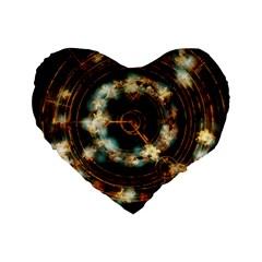 Science Fiction Energy Background Standard 16  Premium Flano Heart Shape Cushions by Simbadda