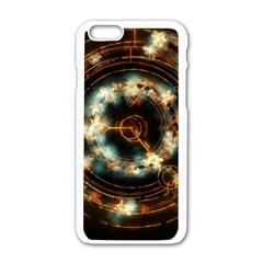 Science Fiction Energy Background Apple Iphone 6/6s White Enamel Case by Simbadda