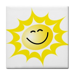 The Sun A Smile The Rays Yellow Tile Coasters by Simbadda