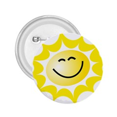 The Sun A Smile The Rays Yellow 2 25  Buttons by Simbadda