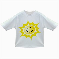 The Sun A Smile The Rays Yellow Infant/toddler T Shirts by Simbadda