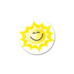 The Sun A Smile The Rays Yellow Golf Ball Marker (4 Pack) by Simbadda