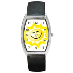 The Sun A Smile The Rays Yellow Barrel Style Metal Watch by Simbadda