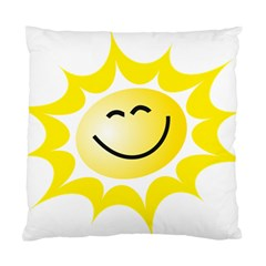 The Sun A Smile The Rays Yellow Standard Cushion Case (one Side) by Simbadda