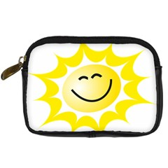 The Sun A Smile The Rays Yellow Digital Camera Cases by Simbadda
