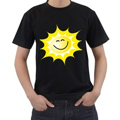 The Sun A Smile The Rays Yellow Men s T Shirt (black) by Simbadda