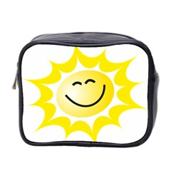 The Sun A Smile The Rays Yellow Mini Toiletries Bag 2 Side by Simbadda