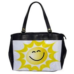 The Sun A Smile The Rays Yellow Office Handbags by Simbadda