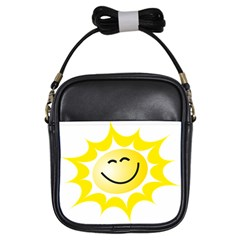 The Sun A Smile The Rays Yellow Girls Sling Bags by Simbadda