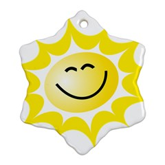 The Sun A Smile The Rays Yellow Ornament (snowflake) by Simbadda