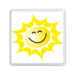 The Sun A Smile The Rays Yellow Memory Card Reader (square)  by Simbadda