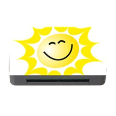 The Sun A Smile The Rays Yellow Memory Card Reader With Cf by Simbadda