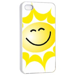The Sun A Smile The Rays Yellow Apple Iphone 4/4s Seamless Case (white) by Simbadda