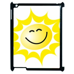 The Sun A Smile The Rays Yellow Apple Ipad 2 Case (black) by Simbadda