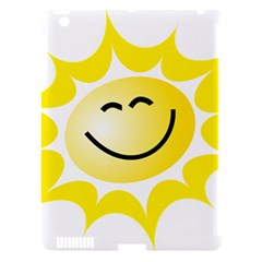 The Sun A Smile The Rays Yellow Apple Ipad 3/4 Hardshell Case (compatible With Smart Cover) by Simbadda