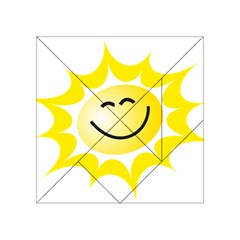 The Sun A Smile The Rays Yellow Acrylic Tangram Puzzle (4  X 4 ) by Simbadda
