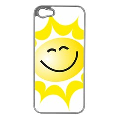 The Sun A Smile The Rays Yellow Apple Iphone 5 Case (silver) by Simbadda