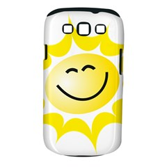 The Sun A Smile The Rays Yellow Samsung Galaxy S Iii Classic Hardshell Case (pc+silicone) by Simbadda