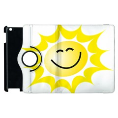 The Sun A Smile The Rays Yellow Apple Ipad 3/4 Flip 360 Case by Simbadda
