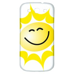 The Sun A Smile The Rays Yellow Samsung Galaxy S3 S Iii Classic Hardshell Back Case by Simbadda