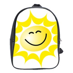 The Sun A Smile The Rays Yellow School Bags (xl)  by Simbadda