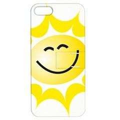The Sun A Smile The Rays Yellow Apple Iphone 5 Hardshell Case With Stand by Simbadda