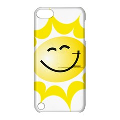 The Sun A Smile The Rays Yellow Apple Ipod Touch 5 Hardshell Case With Stand by Simbadda