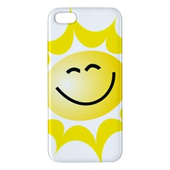 The Sun A Smile The Rays Yellow Apple Iphone 5 Premium Hardshell Case by Simbadda