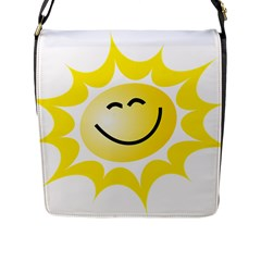 The Sun A Smile The Rays Yellow Flap Messenger Bag (l)  by Simbadda
