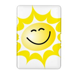 The Sun A Smile The Rays Yellow Samsung Galaxy Tab 2 (10 1 ) P5100 Hardshell Case  by Simbadda