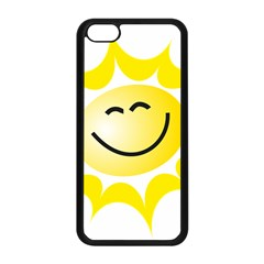 The Sun A Smile The Rays Yellow Apple Iphone 5c Seamless Case (black) by Simbadda