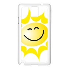 The Sun A Smile The Rays Yellow Samsung Galaxy Note 3 N9005 Case (white) by Simbadda