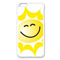 The Sun A Smile The Rays Yellow Apple iPhone 6 Plus/6S Plus Enamel White Case by Simbadda