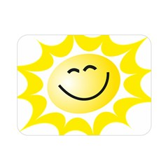 The Sun A Smile The Rays Yellow Double Sided Flano Blanket (mini)  by Simbadda