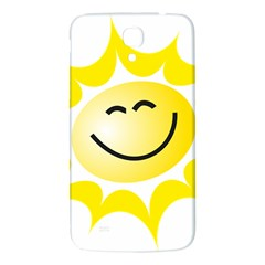 The Sun A Smile The Rays Yellow Samsung Galaxy Mega I9200 Hardshell Back Case by Simbadda