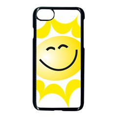 The Sun A Smile The Rays Yellow Apple iPhone 7 Seamless Case (Black)