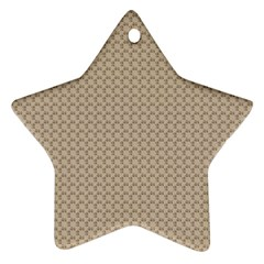 Pattern Ornament Brown Background Ornament (star) by Simbadda
