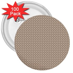 Pattern Ornament Brown Background 3  Buttons (100 Pack)
