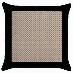 Pattern Ornament Brown Background Throw Pillow Case (black) by Simbadda