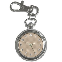 Pattern Ornament Brown Background Key Chain Watches by Simbadda