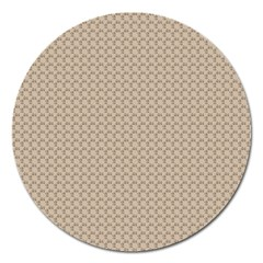 Pattern Ornament Brown Background Magnet 5  (round) by Simbadda